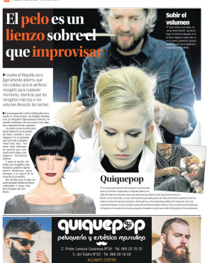 2015 05 periodico Informacion Alicante Extra moda peluqueria quiquepop alicante